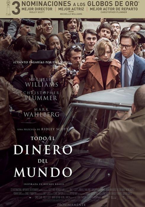 Cartel oficial en español de: Todo el dinero del mundo