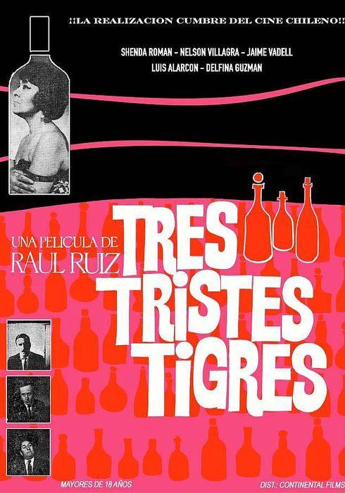 Cartel oficial en español de: Tres tristes tigres (1968)