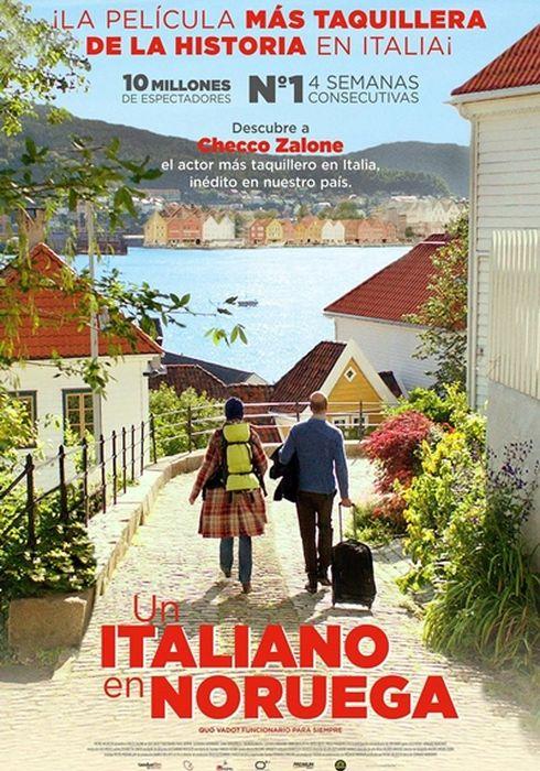 Cartel oficial en español de: Un italiano en Noruega