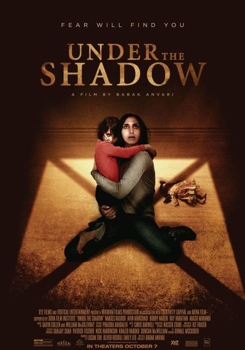 Cartel oficial en español de: Under the Shadow (Bajo la sombra)