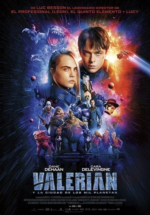 Cartel oficial en español de: Valerian y la ciudad de los mil planetas