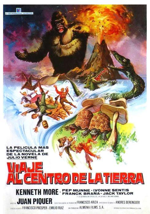 Cartel oficial en español de: Viaje al centro de la Tierra