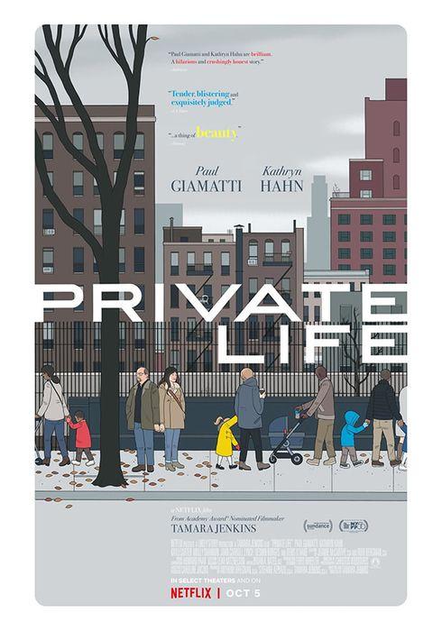 Cartel oficial en español de: Vida privada (2018)