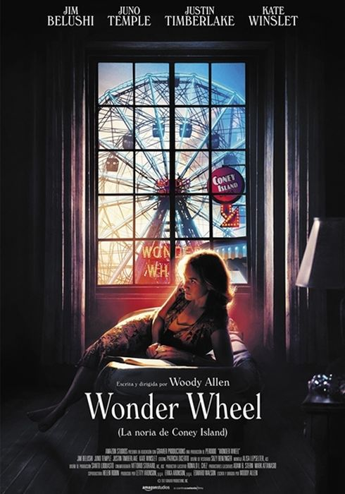 Cartel oficial en español de: Wonder Wheel